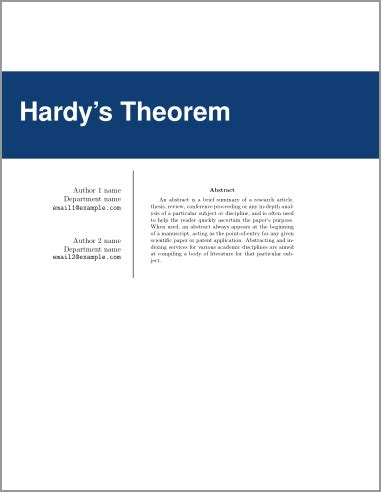 Cover sheet for a term paper